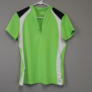 Izod women's perform green athletic top size M